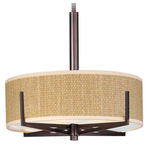 ET2 Lighting Modern Pendant Light with Brown Tones Shades in Oil Rubbed Bronze Finish E95405-101OI