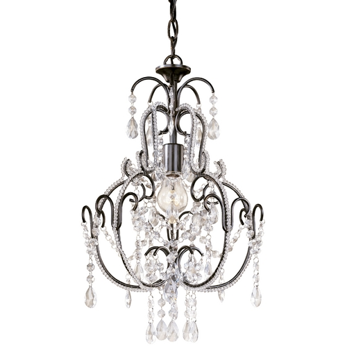 Minka Lavery Single-Light Crystal Chandelier 3123-489