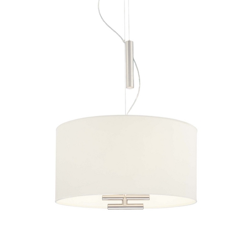 George Kovacs Lighting Adjustable Pendant with Fabric Drum Shade P543-612