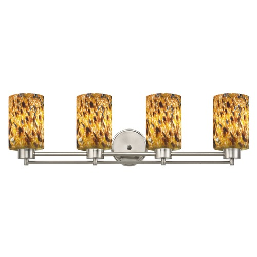 Design Classics Lighting Satin Nickel Bathroom Light 704-09 GL1005C