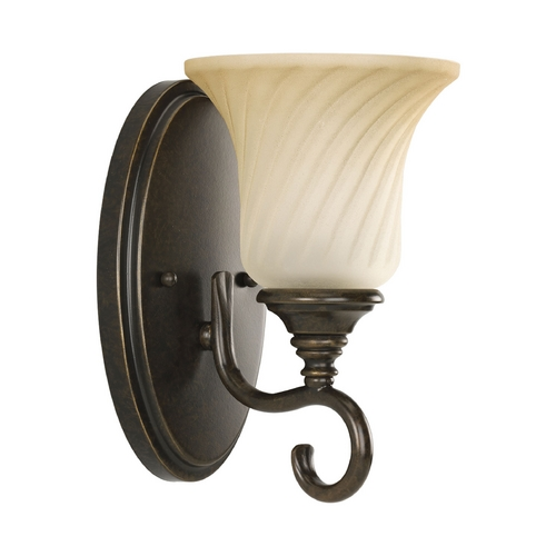 Progress Lighting Progress Sconce Wall Light in Forged Bronze Finish P2783-77