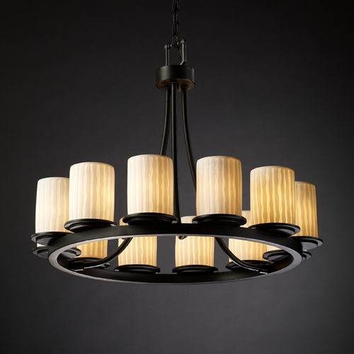 Justice Design Group Justice Design Group Limoges Collection Chandelier POR-8768-10-WFAL-MBLK