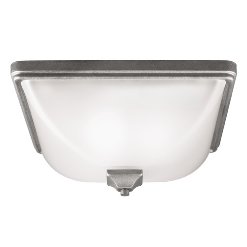 Sea Gull Lighting Sea Gull Lighting Irving Park Weathered Pewter Close To Ceiling Light 7828403-57