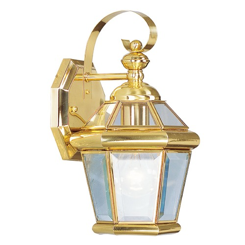Livex Lighting Livex Lighting Georgetown Polished Brass Outdoor Wall Light 2061-02