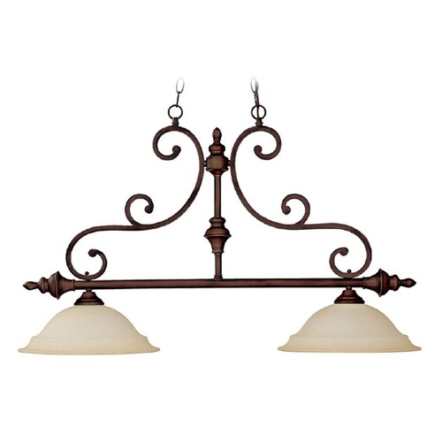 Capital Lighting Capital Lighting Chandler Burnished Bronze Island Light with Bowl / Dome Shade 3077BB