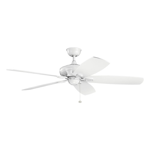 Kichler Lighting Kichler Lighting Ashbyrn Matte White Ceiling Fan Without Light 300269MWH