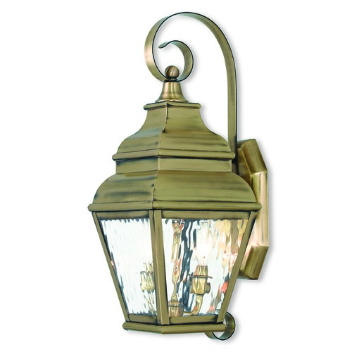 Livex Lighting Livex Lighting Exeter Antique Brass Outdoor Wall Light 2602-01