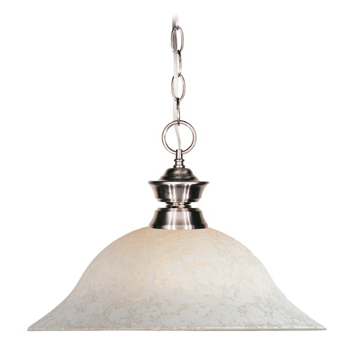 Z-Lite Z-Lite Riviera Brushed Nickel Pendant Light with Bowl / Dome Shade 100701BN-WM16