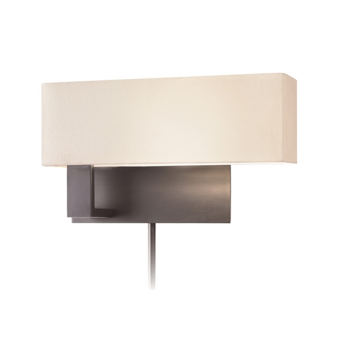 Sonneman Lighting Modern Sconce Wall Light with White Shade in Black Brass Finish 7026.51F