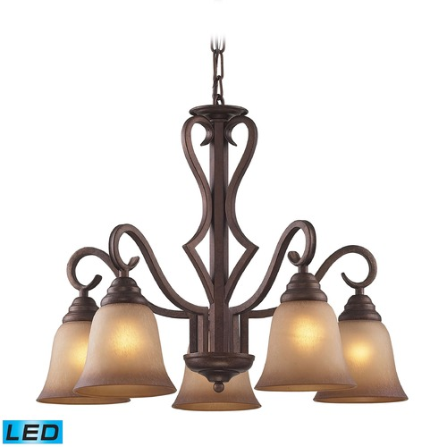 Elk Lighting Elk Lighting Lawrenceville Mocha LED Chandelier 9327/5-LED