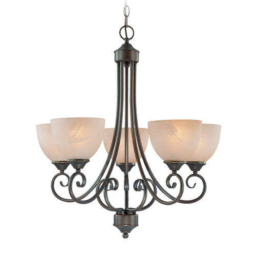 Craftmade Lighting Craftmade Raleigh Old Bronze Chandelier 25325-OB