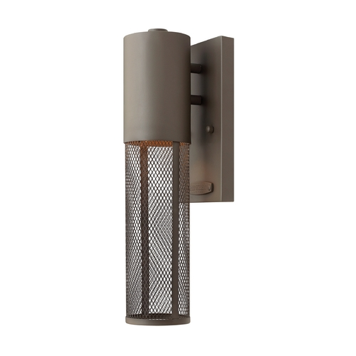 Hinkley Lighting Modern Outdoor Wall Light in Buckeye Bronze Finish 2306KZ