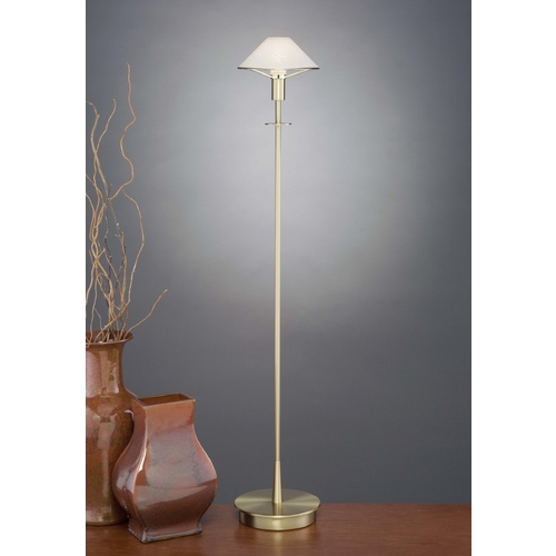 Holtkoetter Lighting Holtkoetter Modern Floor Lamp with White Glass in Brushed Brass Finish 6515 BB SW