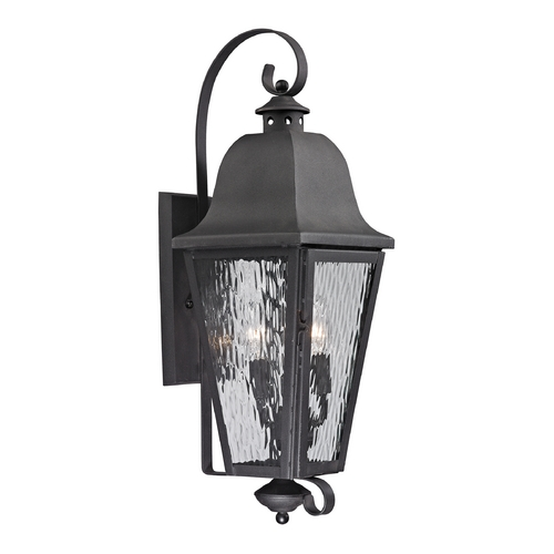 Elk Lighting Outdoor Wall Light with Clear Glass in Charcoal Finish 47102/3