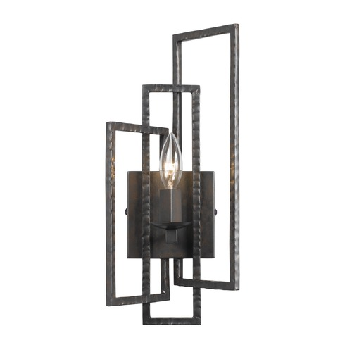 Crystorama Lighting Crystorama Lighting Capri Raw Steel Sconce 331-RS