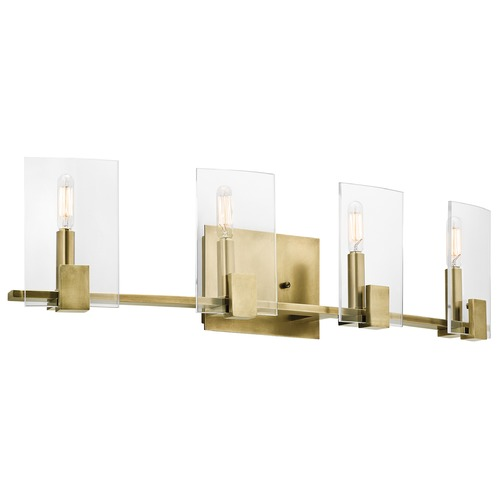 Kichler Lighting Kichler Lighting Signata Natural Brass Bathroom Light 45704NBR