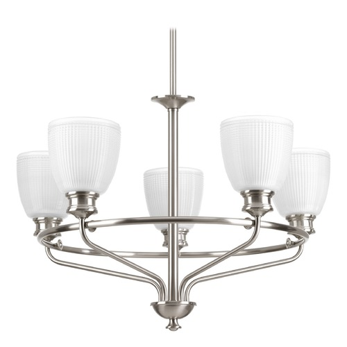 Progress Lighting Progress Lighting Lucky Brushed Nickel Chandelier P4723-09