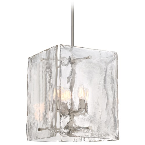 Designers Fountain Lighting Designers Fountain Madison Square Satin Platinum Pendant Light with Square Shade 89054-SP