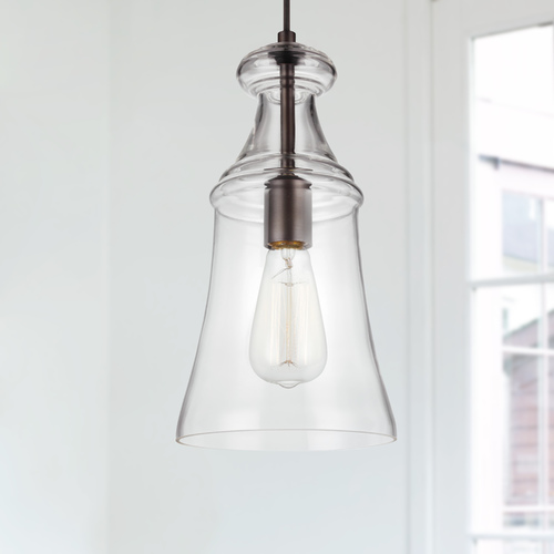 Sea Gull Lighting Sea Gull Lighting Doyle Oil Rubbed Bronze Mini-Pendant Light with Bowl / Dome Shade P1441ORB