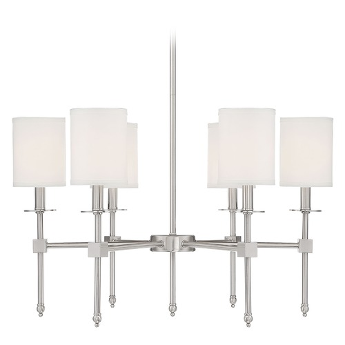 Savoy House Savoy House Lighting Chatham Satin Nickel Chandelier 1-305-6-SN