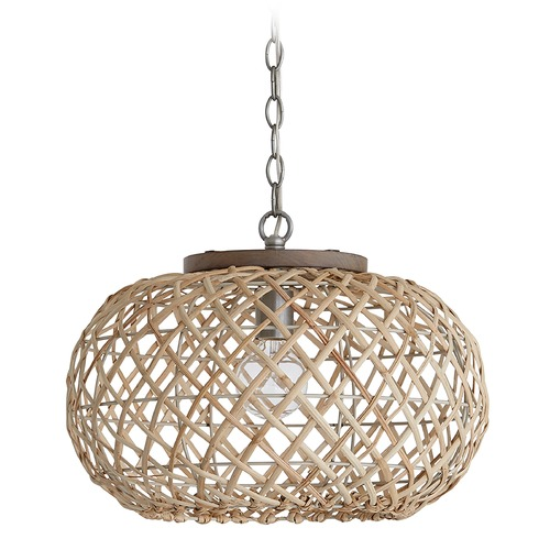 Capital Lighting Capital Lighting Independent 1-Light Grey Wash and Antique Nickel Pendant Light 340811GK