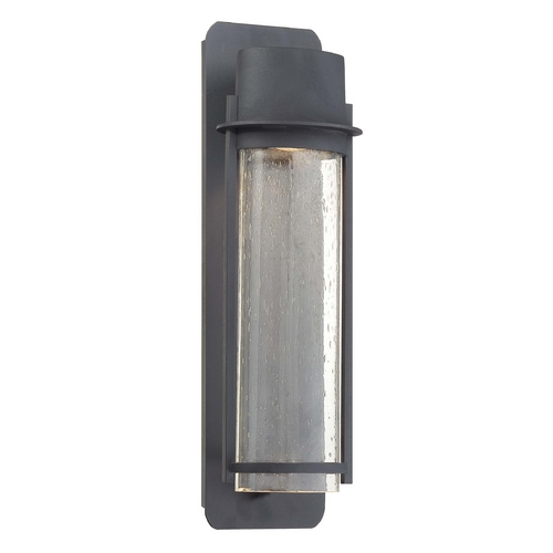 Minka Lavery Outdoor Wall Light with Clear Glass in Black Finish 72253-66