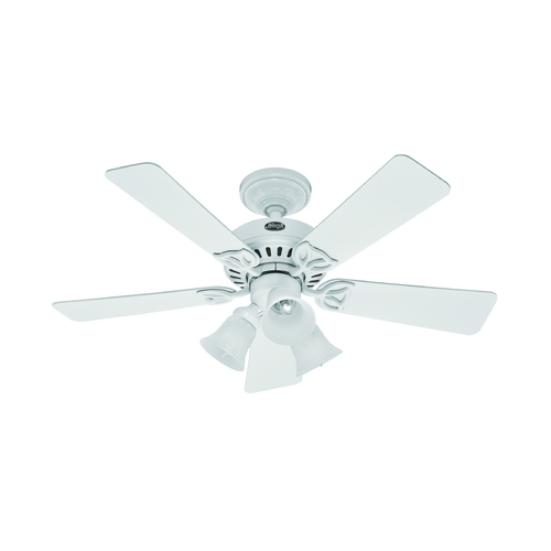 Hunter Fan Company Hunter Fan Company the Beacon Hill White Ceiling Fan with Light 53081