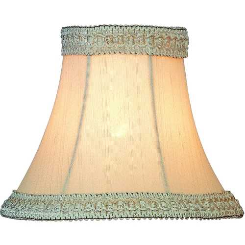 Lite Source Lighting Bell with Lace Bell Lamp Shade with Clip-On Assembly CH525-6
