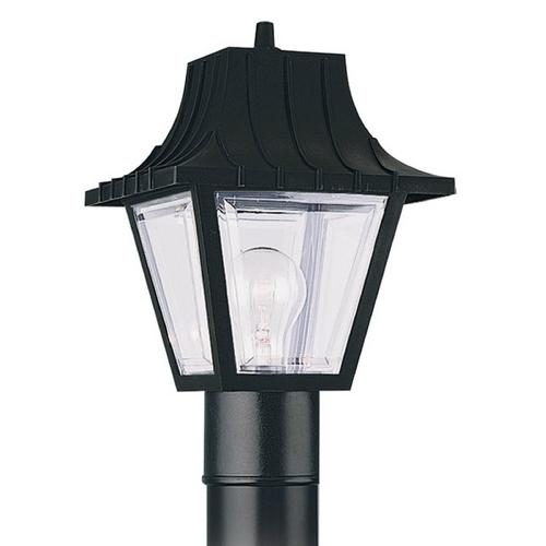 Sea Gull Lighting Post Light with Clear Glass in Clear Finish 8275-32