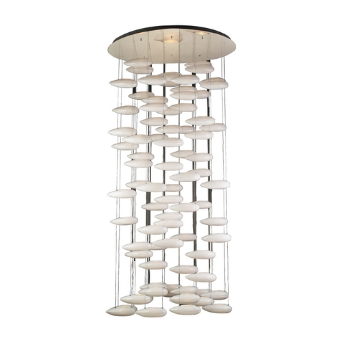 PLC Lighting Modern Pendant Light in Polished Chrome Finish 76867 PC