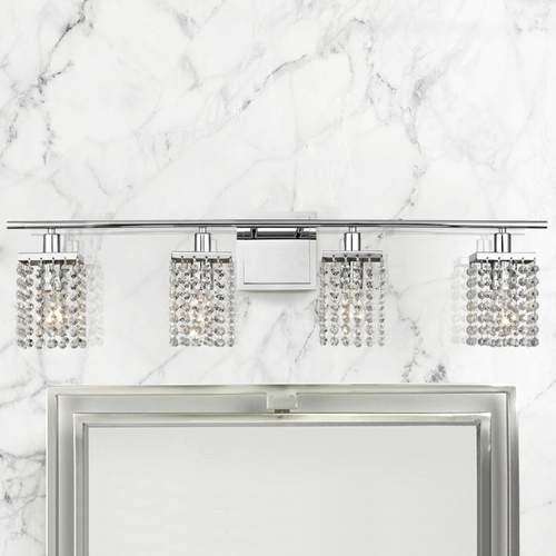 Ashford Classics Lighting 4-Light Crystal Bathroom Vanity Light 2277-26