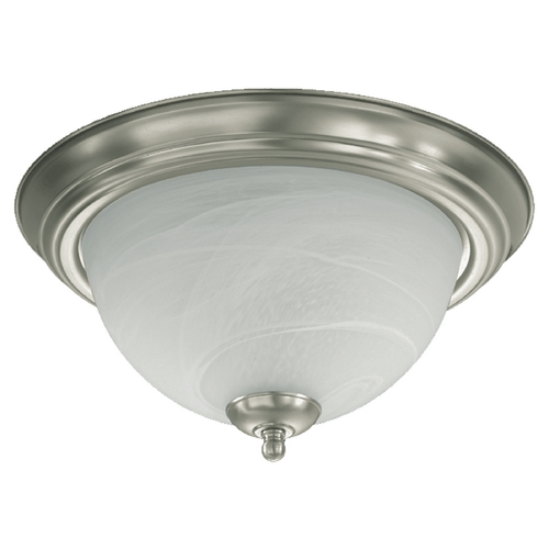 Quorum Lighting Quorum Lighting Satin Nickel Flushmount Light 3066-13-65