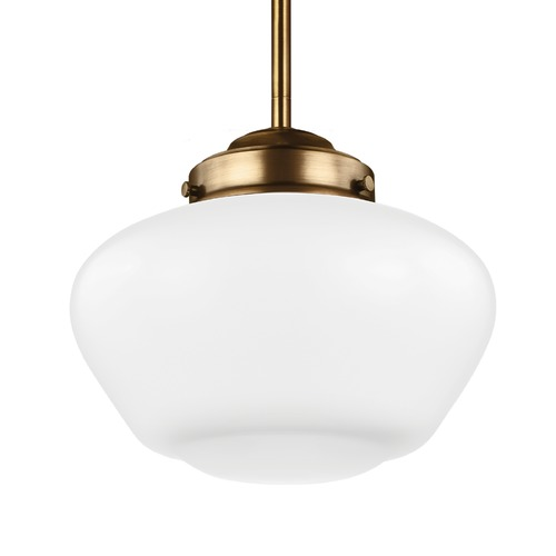 Feiss Lighting Feiss Alcott Aged Brass Mini-Pendant Light P1383AGB