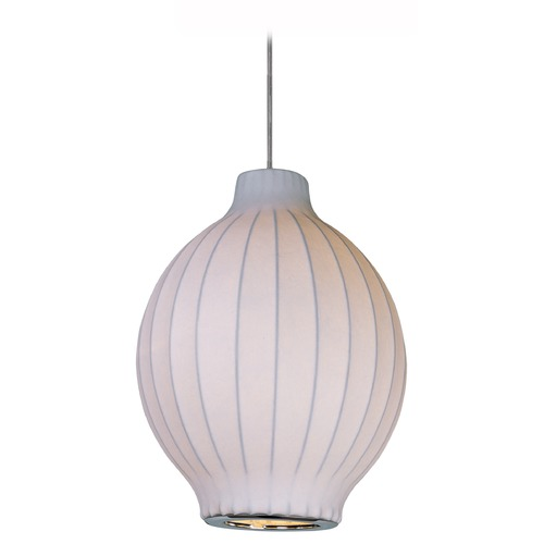 Maxim Lighting Maxim Lighting Cocoon Polished Chrome Pendant Light with Oblong Shade 12181WTPC