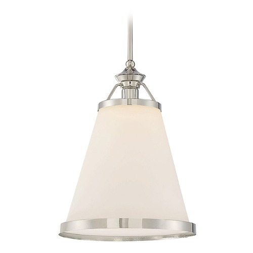 Savoy House Savoy House Lighting Ashmont Polished Nickel Pendant Light with Conical Shade 7-130-1-109