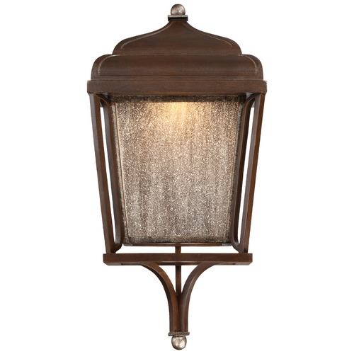 Minka Lavery Minka Astrapia Dark Rubbed Sienna with Aged Silver LED Outdoor Wall Light 72540-593-L