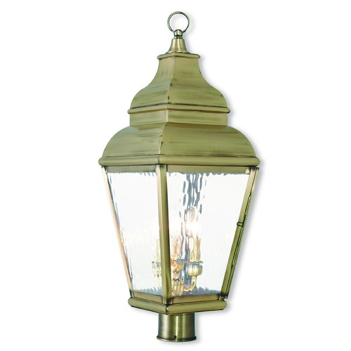 Livex Lighting Livex Lighting Exeter Antique Brass Post Light 2606-01