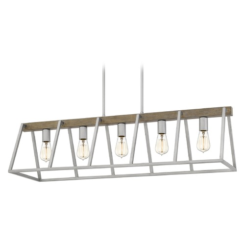 Quoizel Lighting Quoizel Lighting Brockton Brushed Silver Island Light BRT542BSR