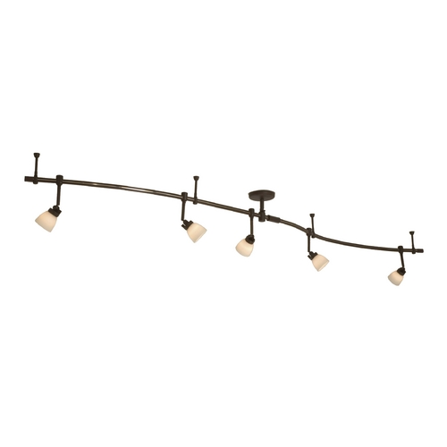 George Kovacs Lighting Modern Bronze Rail Light Kit and Five lights - 16-Feet Long P4216-467