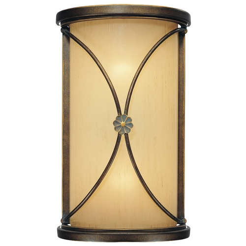 Minka Lavery Sconce Wall Light with Beige / Cream Glass in Deep Flax Bronze Finish 6231-288