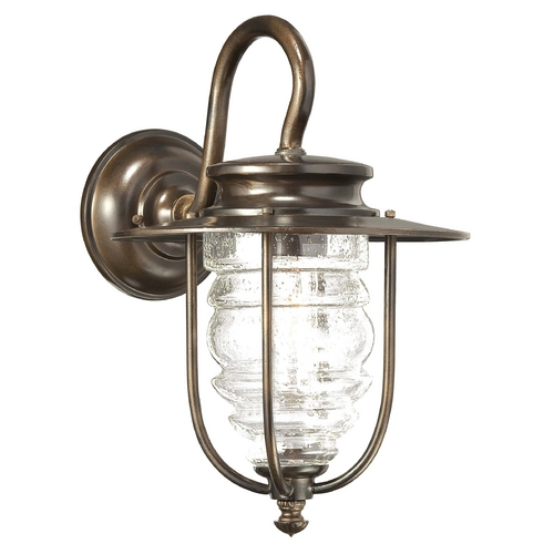 Minka Lighting Outdoor Wall Light with Clear Glass in Chelesa Bronze Finish 72261-189