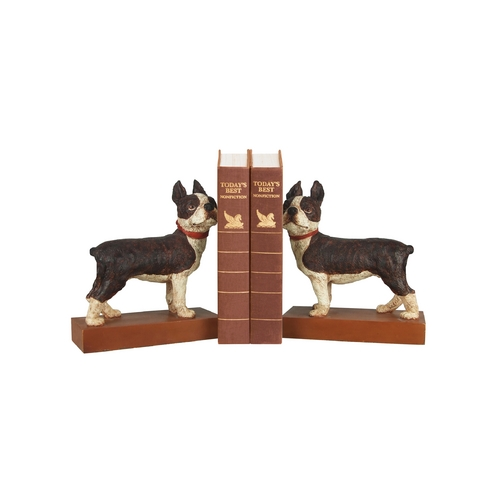 Sterling Lighting Decorative Boston Terrier Dog Bookends 93-0797