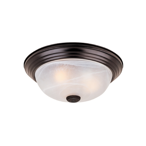 Designers Fountain Lighting Flushmount Light with Alabaster Glass in Oil Rubbed Bronze Finish 1257S-ORB-AL