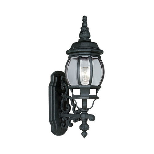 Progress Lighting Progress Outdoor Wall Light with Clear Glass in Textured Black Finish P5878-31