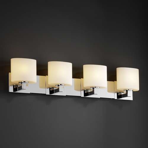 Justice Design Group Justice Design Group Fusion Collection Bathroom Light FSN-8924-30-OPAL-CROM