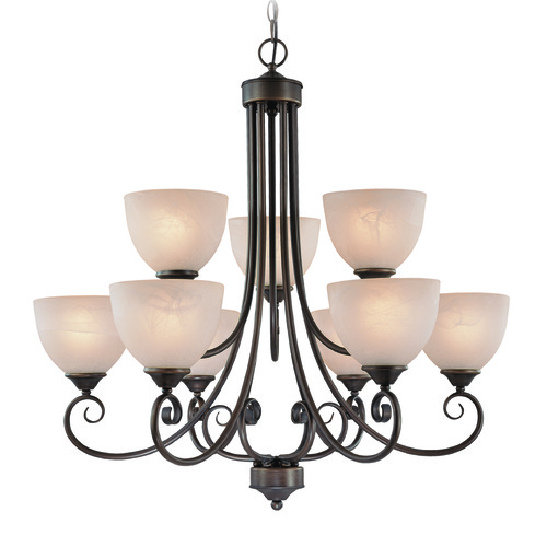 Jeremiah Lighting Jeremiah Raleigh Old Bronze Chandelier 25329-OB