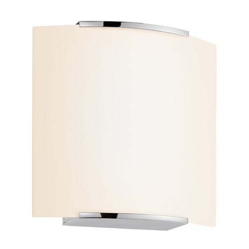 Sonneman Lighting Modern Sconce Wall Light with White Glass in Polished Chrome Finish 3876.01