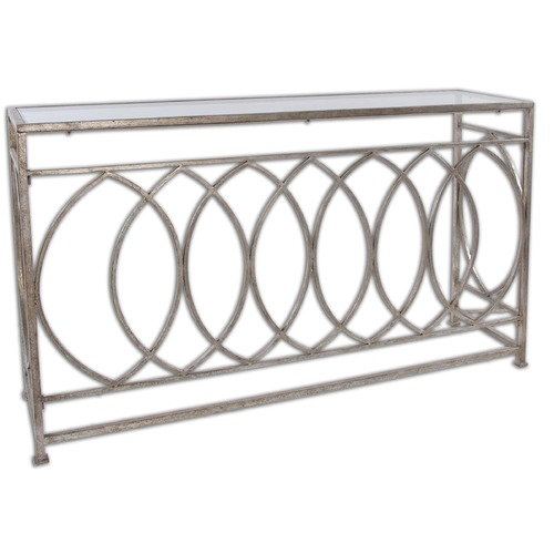 Uttermost Lighting Uttermost Aniya Glass Top Console Table 24306