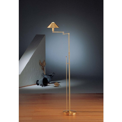 Holtkoetter Lighting Holtkoetter Modern Swing Arm Lamp in Brushed Brass Finish 9424 BB