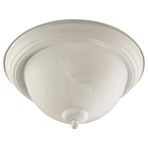 Quorum Lighting Quorum Lighting Textured White Flushmount Light 3066-13-66
